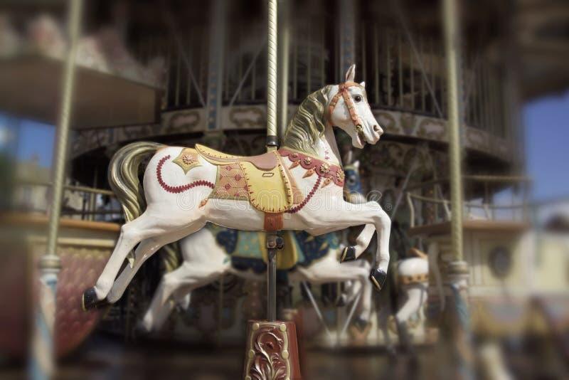 Download Cavallo sul carosello immagine stock. Immagine di halter - 3129983