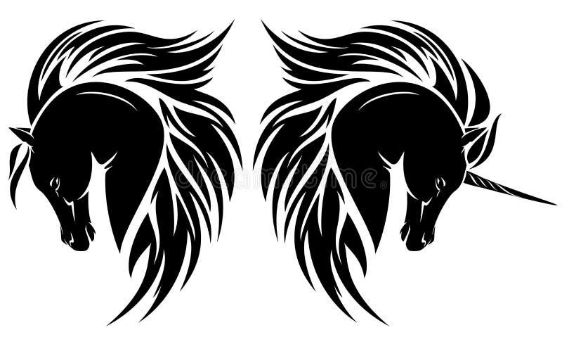 Cavalo árabe ilustração do vetor