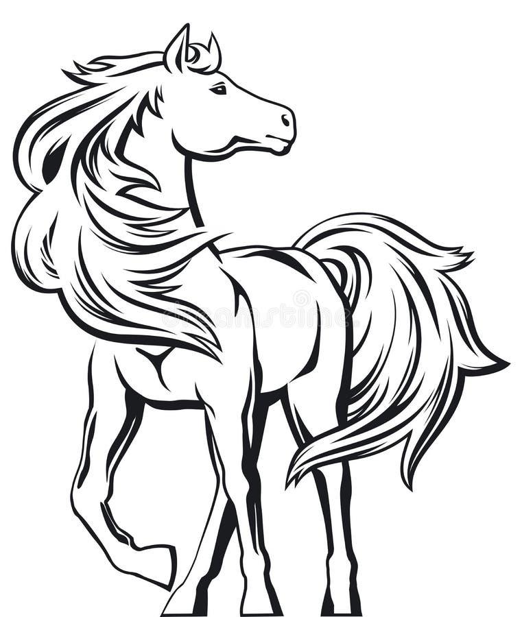 Cavalo ilustração stock