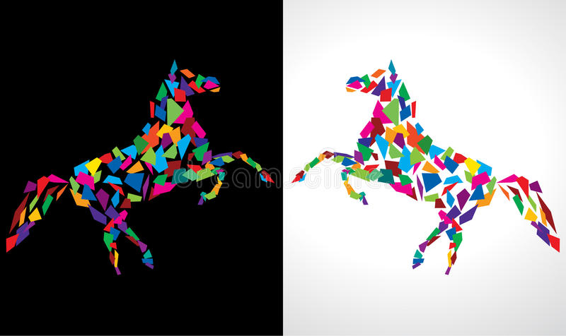 Cavalo abstrato ilustração do vetor