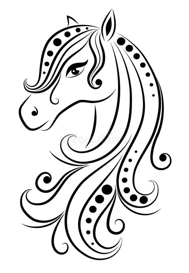 Cavalo abstrato. ilustração stock