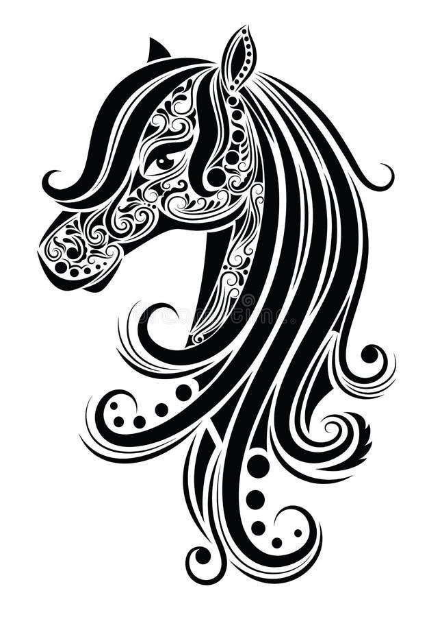Cavalo abstrato. ilustração do vetor