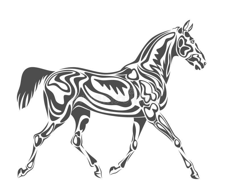 Cavalo abstrato ilustração stock