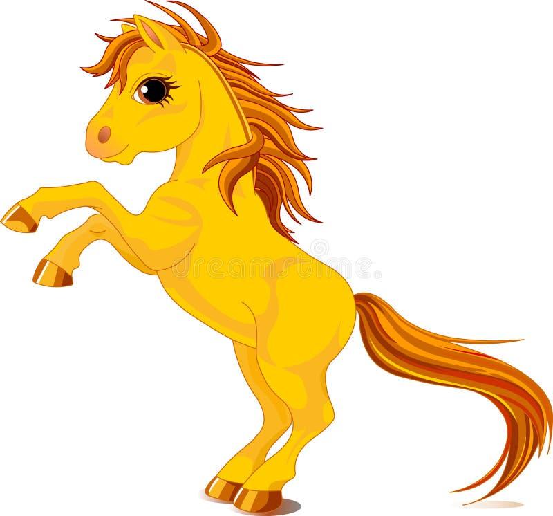 Cavalo amarelo ilustração do vetor