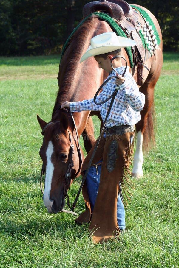 Cavalo & cowboy fotos de stock royalty free