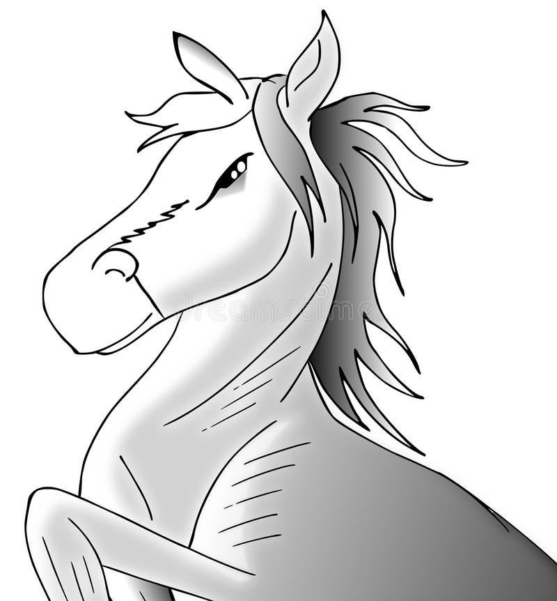 Cavalo branco ilustração do vetor