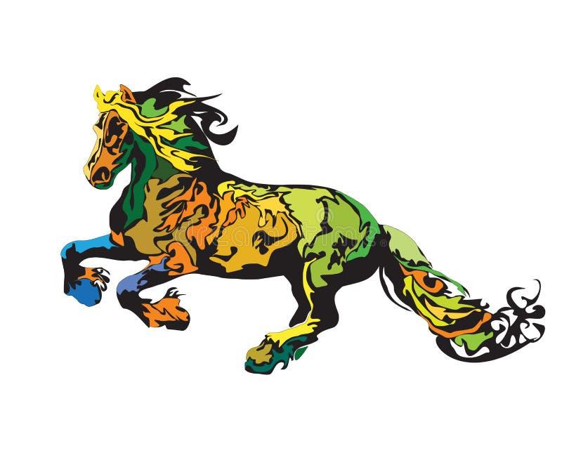 Cavalo colorido ilustração stock