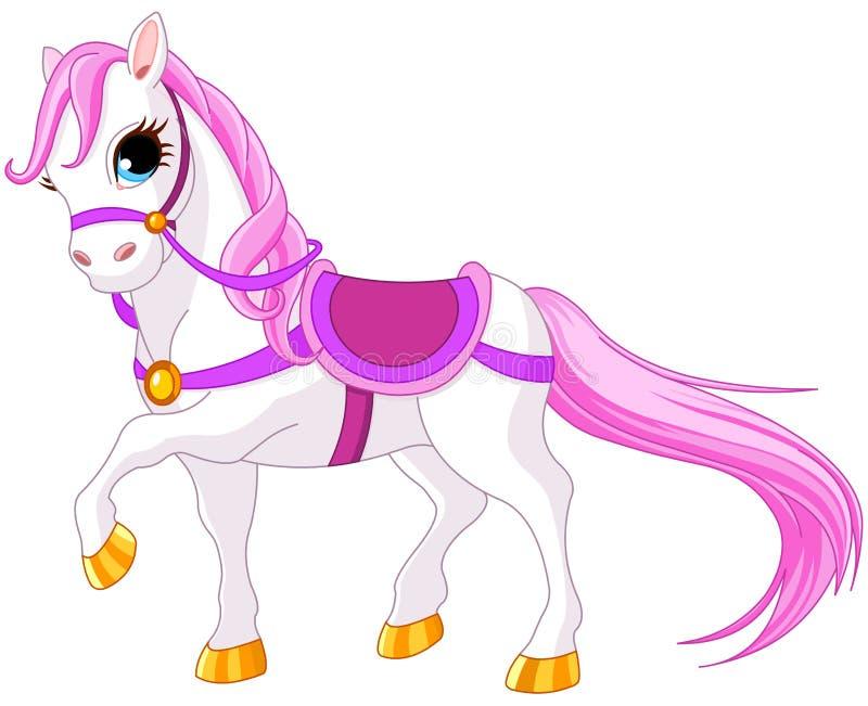 Cavalo da princesa ilustração royalty free