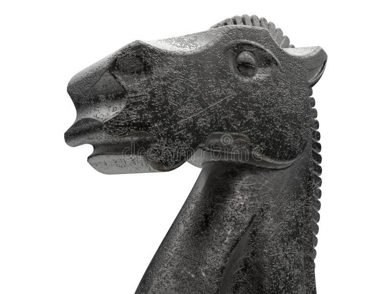Cavalo da xadrez - estando orgulhoso ilustração royalty free