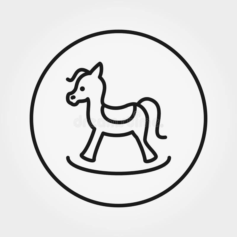 Cavalo de balanço brinquedo Ícone universal Vetor Linha fina editável ilustração royalty free