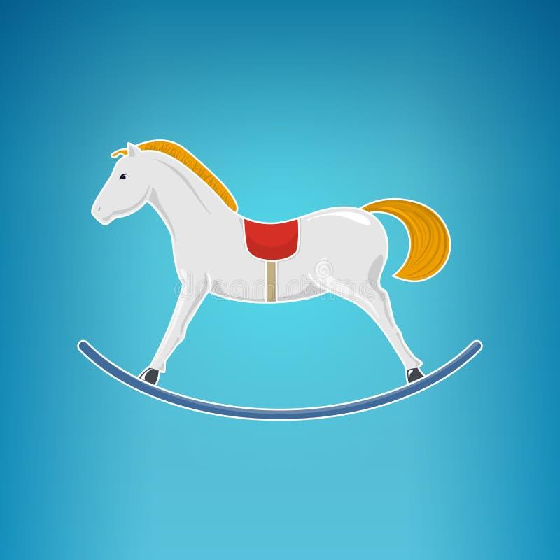Cavalo de balanço colorido, Feliz Natal ilustração royalty free