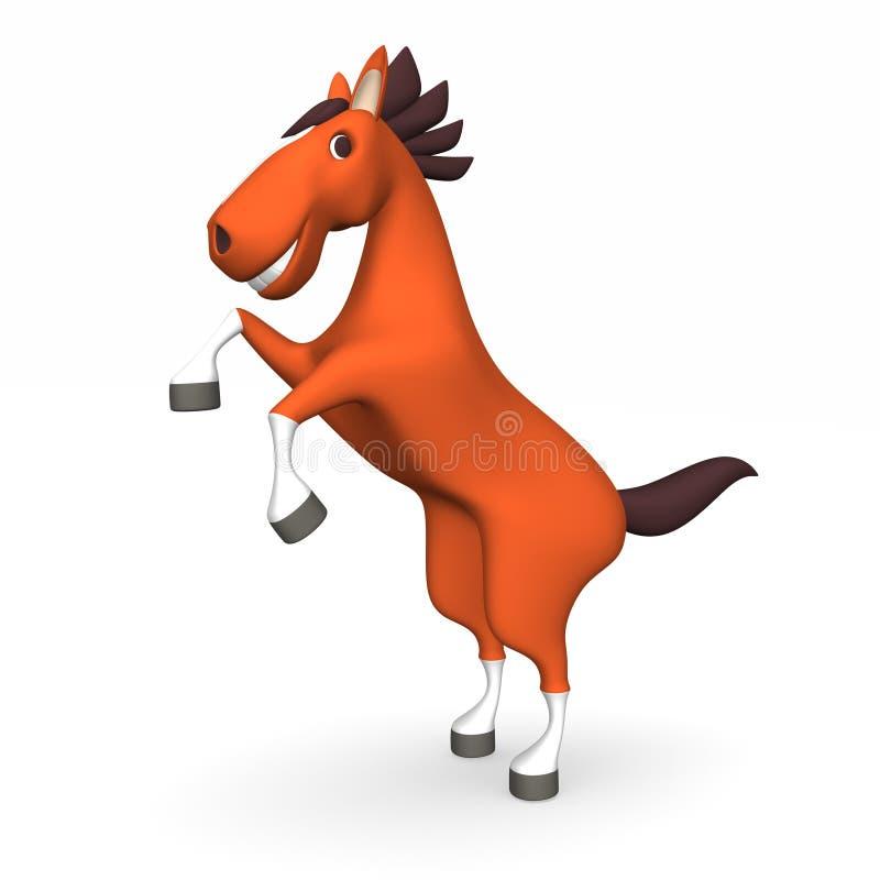 Cavalo de Brown que está estando ilustração royalty free