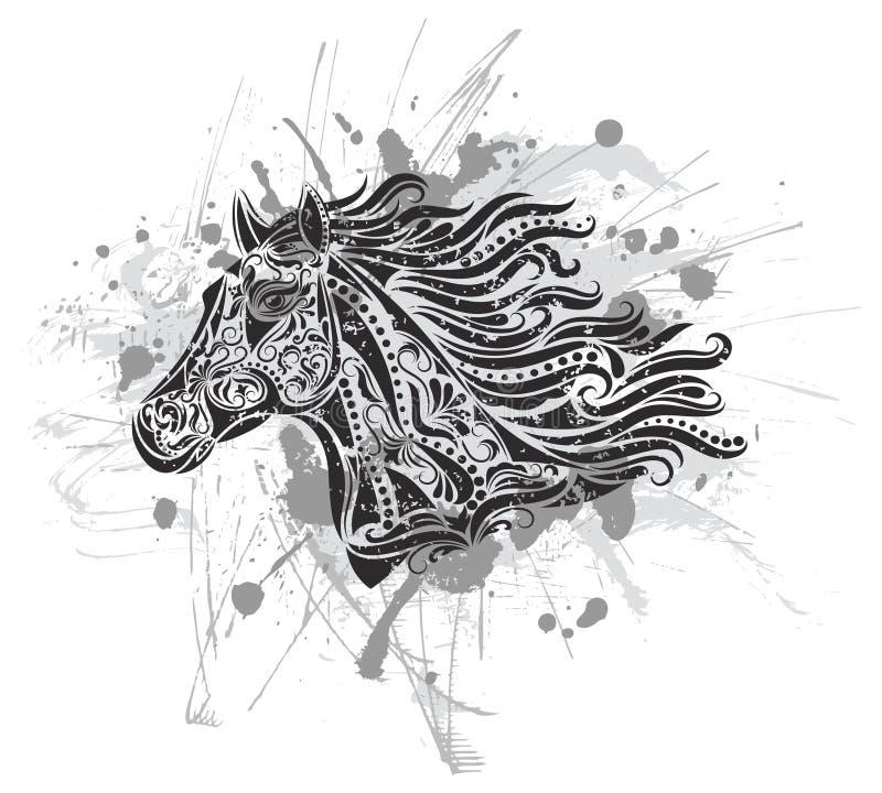Cavalo de Grunge. ilustração stock
