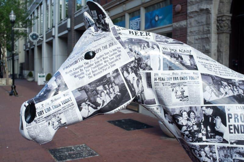Cavalo de Prohibtion em Louisville do centro imagens de stock royalty free