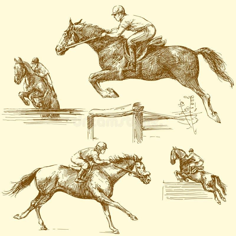 Cavalo de raça ilustração stock