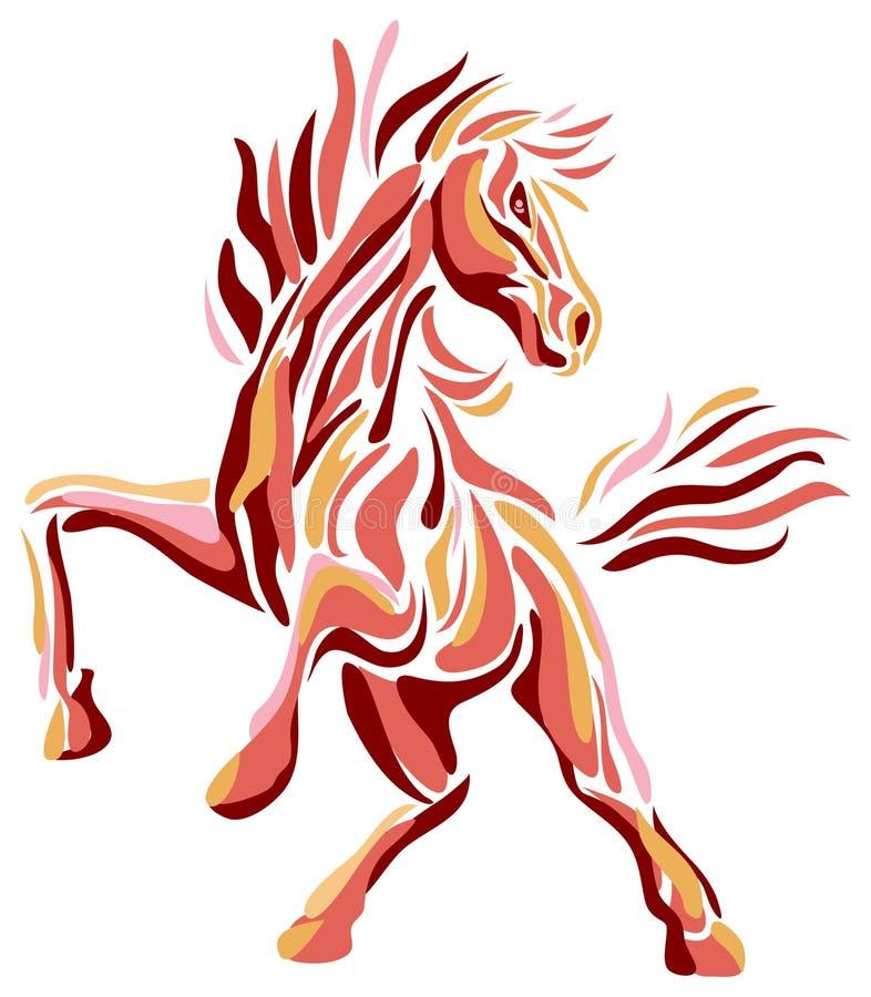 Cavalo de salto ilustração stock