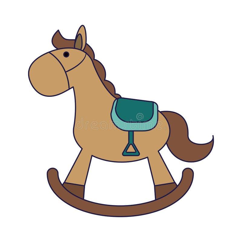 Cavalo de Toy Wooden ilustração stock