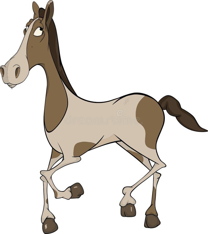 Cavalo. desenhos animados ilustração stock