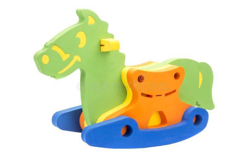 Cavalo do brinquedo para o menino imagem de stock