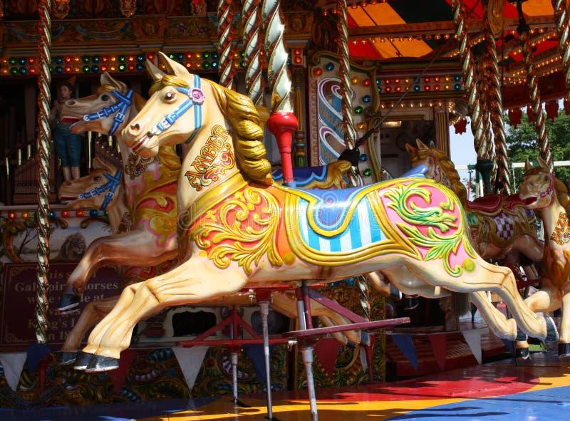 Cavalo do carrossel. fotografia de stock