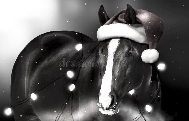 Cavalo do Natal foto de stock royalty free