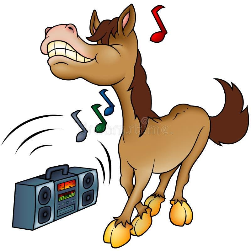 Cavalo e música ilustração royalty free