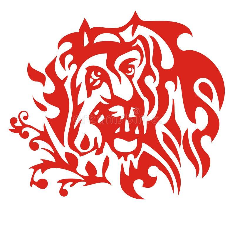 Cavalo e tigre flamejantes ilustração do vetor
