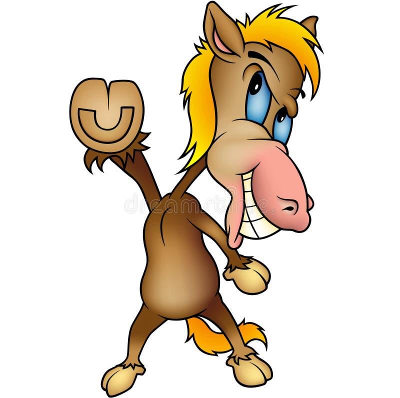 Cavalo ereto ilustração do vetor