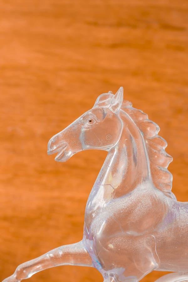 Cavalo feito do vidro fotos de stock