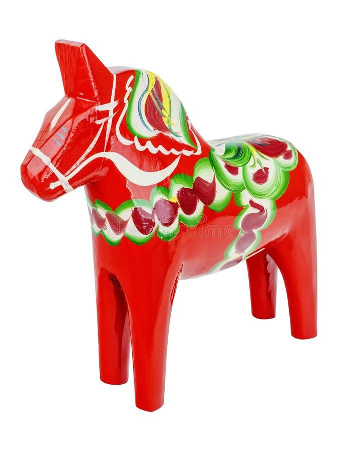 Cavalo - lembrança sueco no fundo isolado imagem de stock