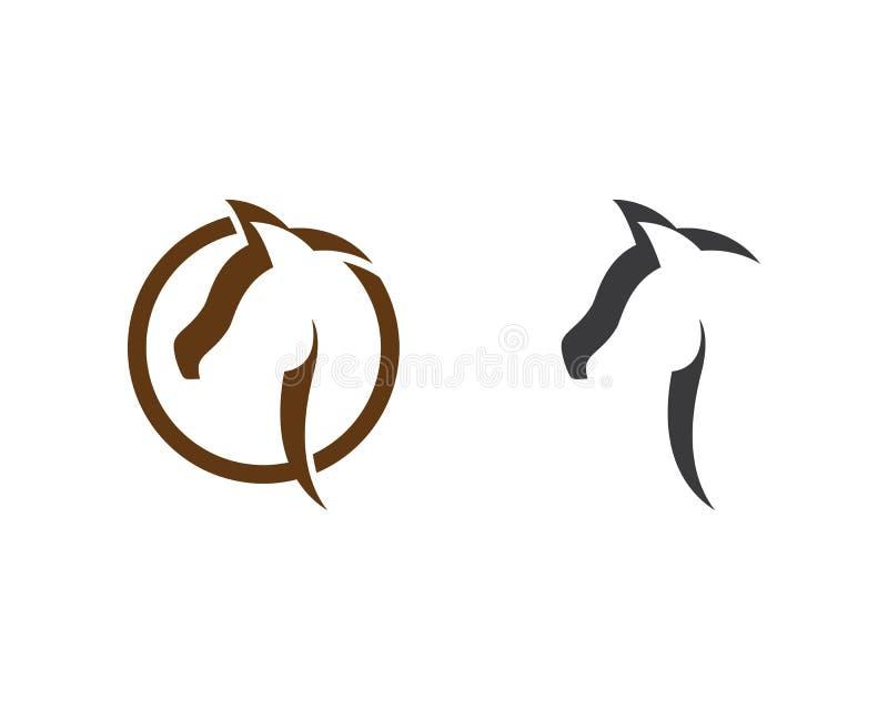Cavalo Logo Template ilustração do vetor