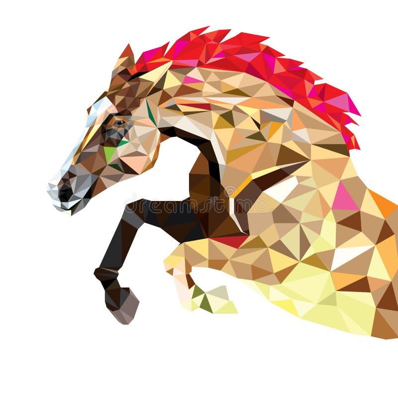 Cavalo no estilo geométrico do teste padrão Eps 10 ilustração do vetor