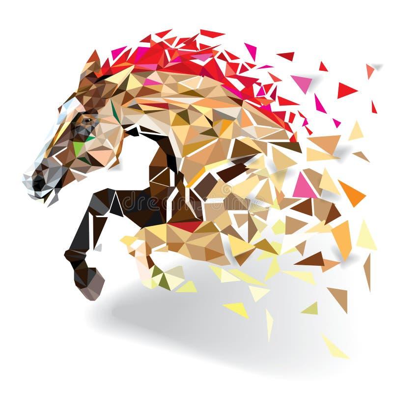 Cavalo no estilo geométrico do teste padrão Eps 10 ilustração stock