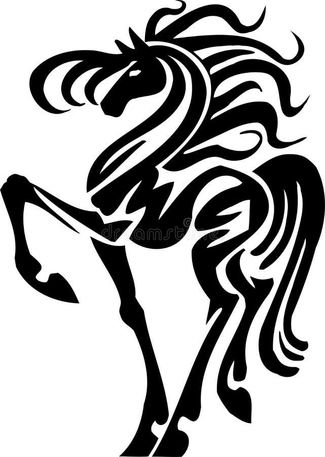 Cavalo no estilo tribal - ilustração do vetor. ilustração royalty free