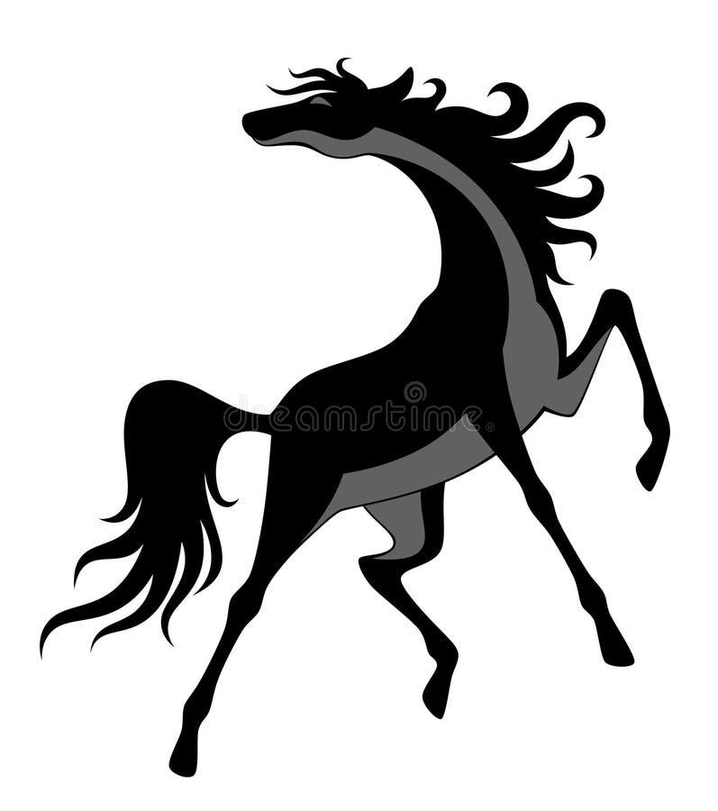 Cavalo preto ilustração stock