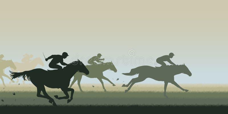 Cavalo Racing ilustração do vetor