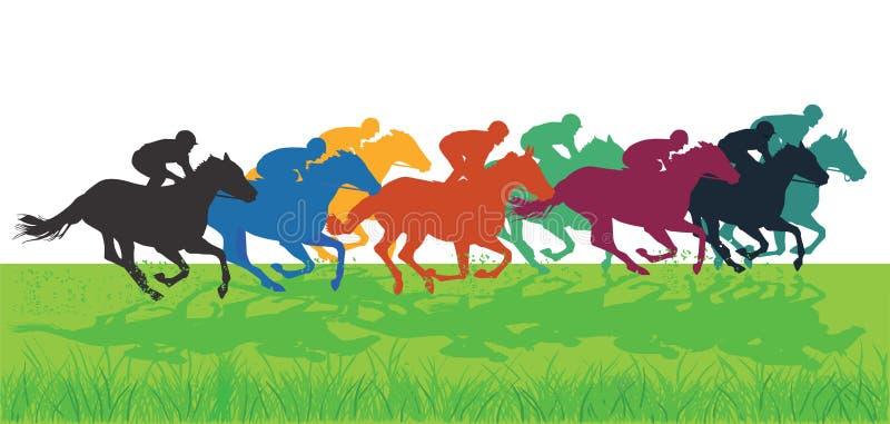 Cavalo Racing ilustração royalty free