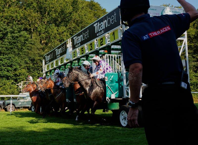 Cavalo Racing O começo fotos de stock royalty free
