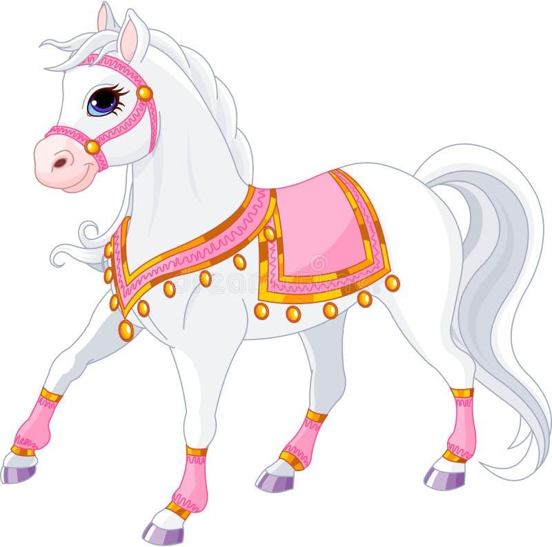 Cavalo real branco bonito ilustração royalty free