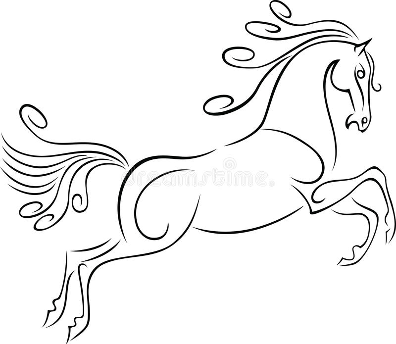 Cavalo Running ilustração stock