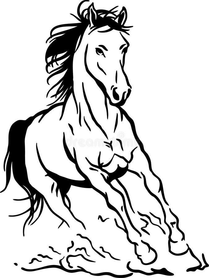 Cavalo Running ilustração royalty free
