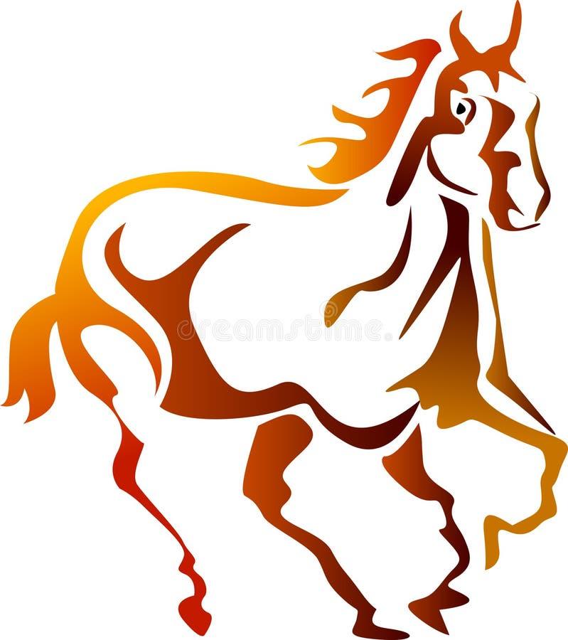 Cavalo running abstrato ilustração royalty free