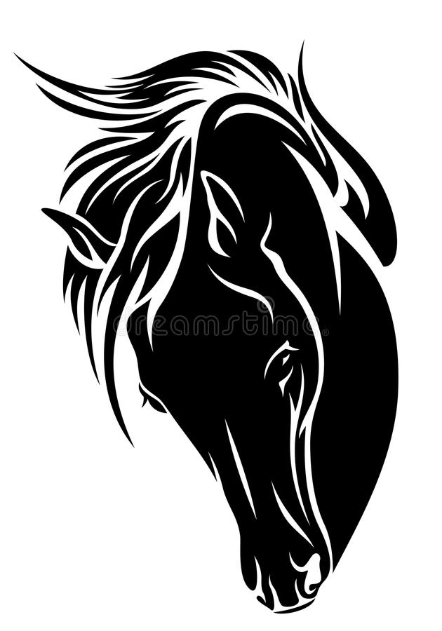 Cavalo traseiro ilustração stock