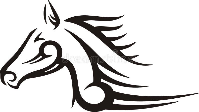 Cavalo tribal ilustração royalty free