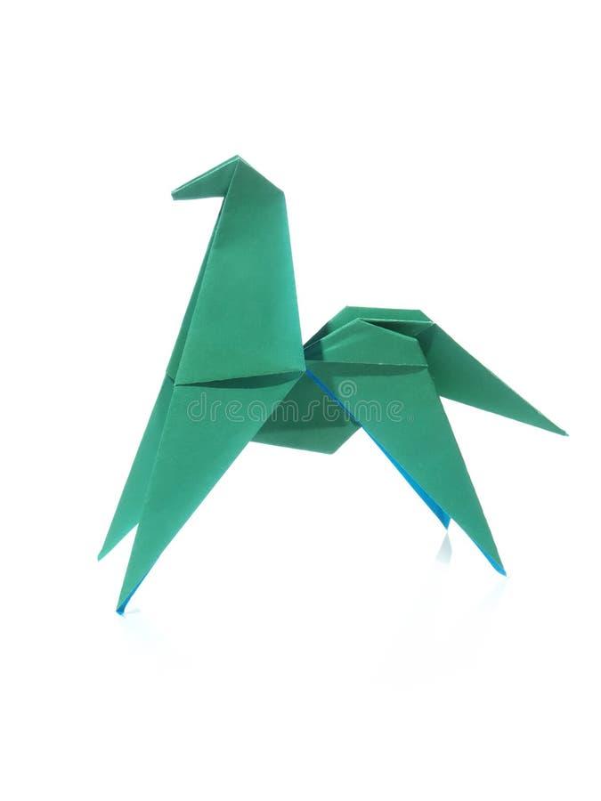 Cavalo verde do origâmi imagens de stock royalty free
