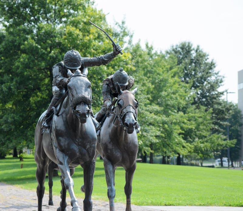 Cavalos de bronze fotografia de stock royalty free