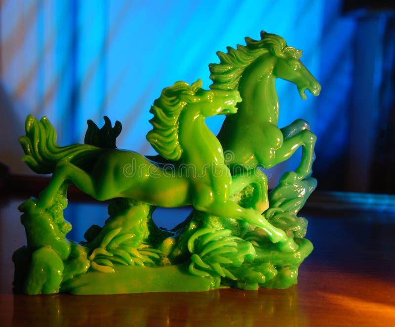 Cavalos do jade fotos de stock