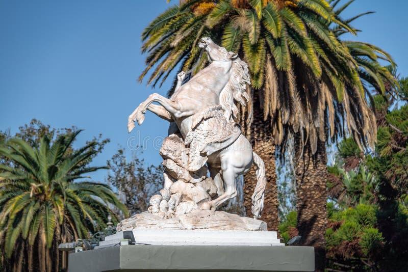 Cavalos margosos Caballitos de Marly Sculpture no general San Martin Park - Mendoza, Argentina fotos de stock