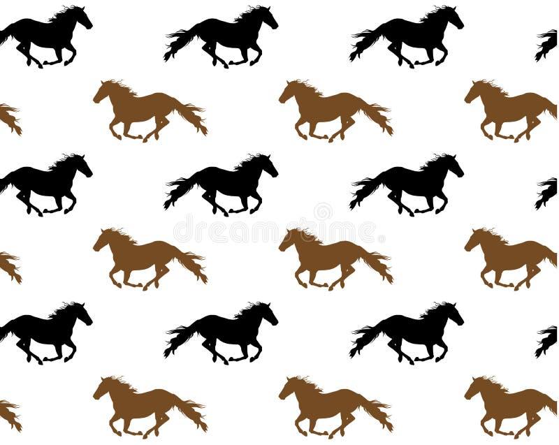 Cavalos running ilustração stock