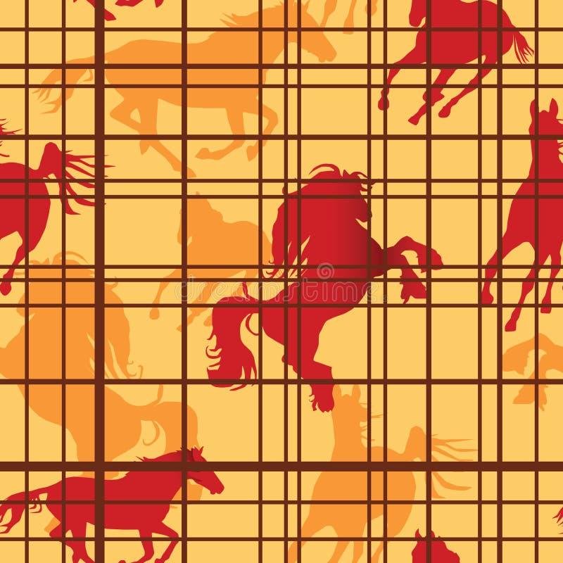 Cavalos sem emenda ilustração royalty free